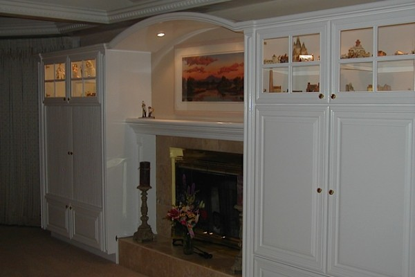 White Cabinet Refacing