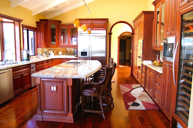 Attirant Cherry Custom Kitchen Cabinets