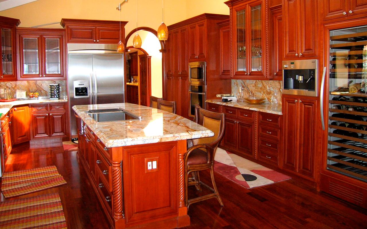 Kitchen cabinets refinished photos Please meet my kitchen work table. Door Sixteen