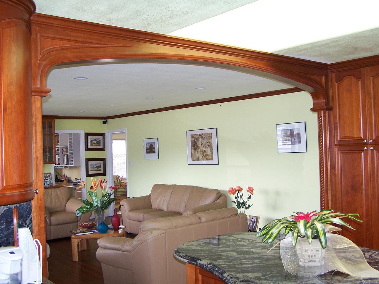Wooden custom arch in Cupertino California