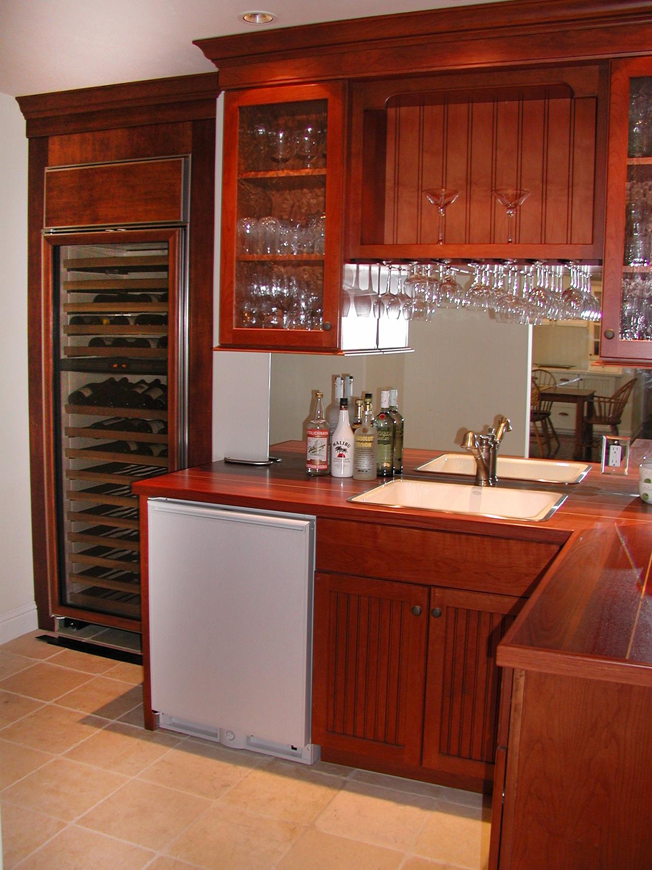 Wood bar cabinets Pacifica California